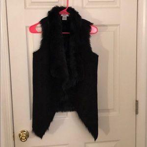 Jackets & Blazers - Black faux fur vest